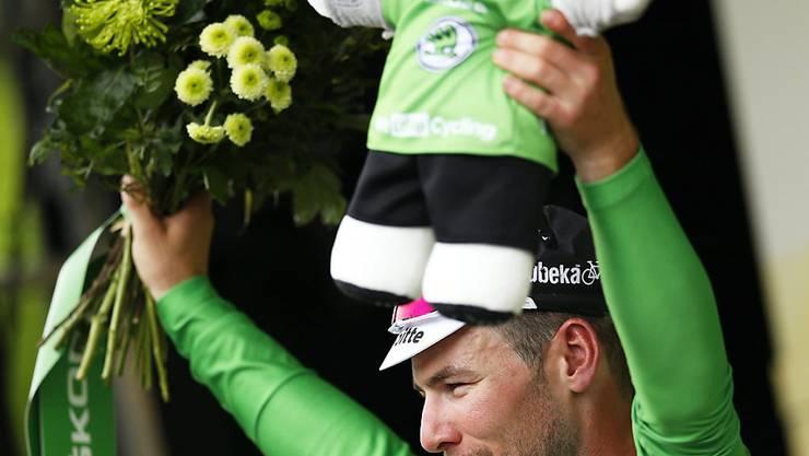 Zurück im grünen Trikot: Mark Cavendish. Der Brite kam am Donnerstag in der 103. Tour de France schon zu seinem dritten Etappensieg