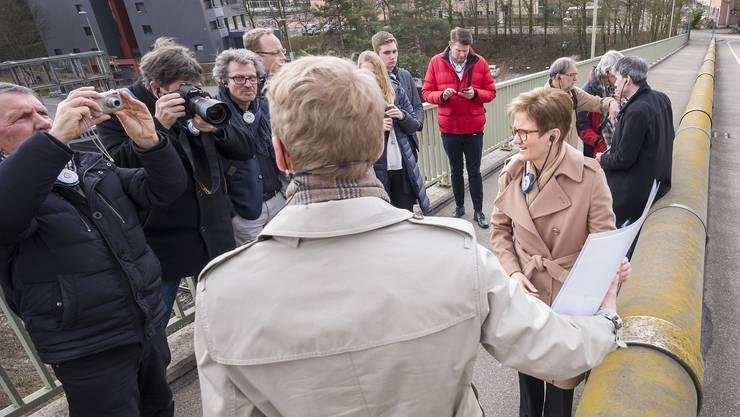 Pressekonferenz zur Entflechtung Basel-Muttenz.