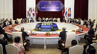 Die Teilnehmenden der abschliessenden Sitzung des ASEAN-Gipfels