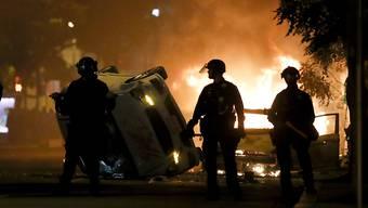 In den USA eskaliert vielerorts - wie hier in Washington im Bild - die Situation bei Protesten gegen Polizeigewalt.