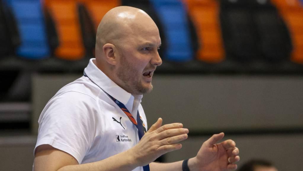 Trainer Adalsteinn Eyjolfsson kann sich über den Einzug in die Gruppenphase der European League freuen