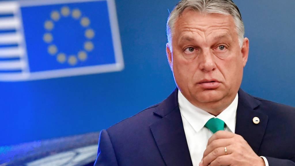 ARCHIV - Ungarns Ministerpräsident Viktor Orban hat mit seiner Fidesz-Partei den Bruch mit der Europäischen Volkspartei vollzogen. Foto: John Thys/AFP Pool/AP/dpa
