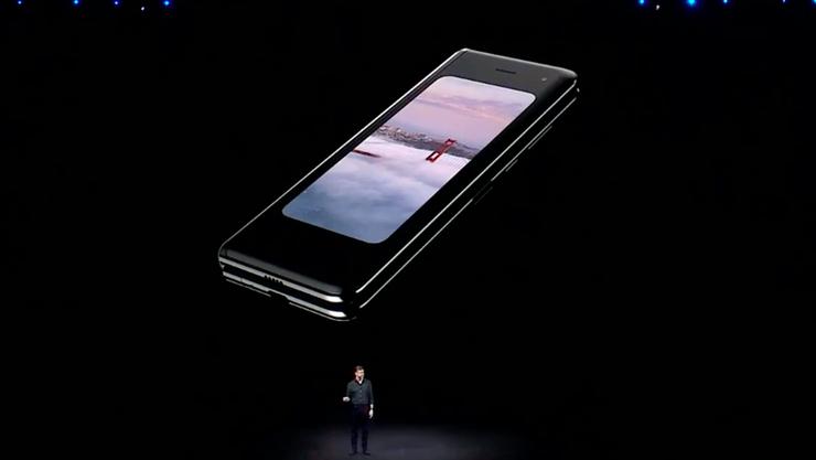 Zusammen gefaltet ist das Galaxy Fold ein handliches Smartphone...