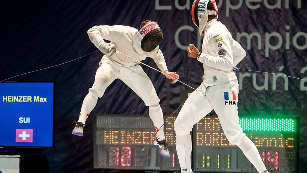 Max Heinzer (links) riskierte im EM-Final gegen Yannick Borel (rechts) alles
