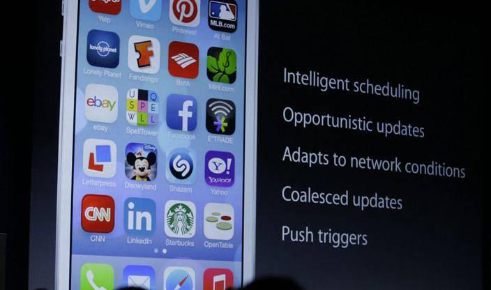 Die Software mit neuen Symbolen und Schriften wurde vom Chefdesigner Jonny Ive gestaltet