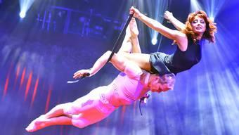 Desire of Flight bei der Generalprobe des Circus Knie am 23. März 2017 in Rapperswil.