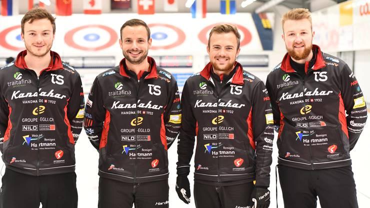Aktuell sehr erfolgreich: Michael Brunner, Marcel Käufeler, Romano Meier und Yannick Schwaller (v.l).