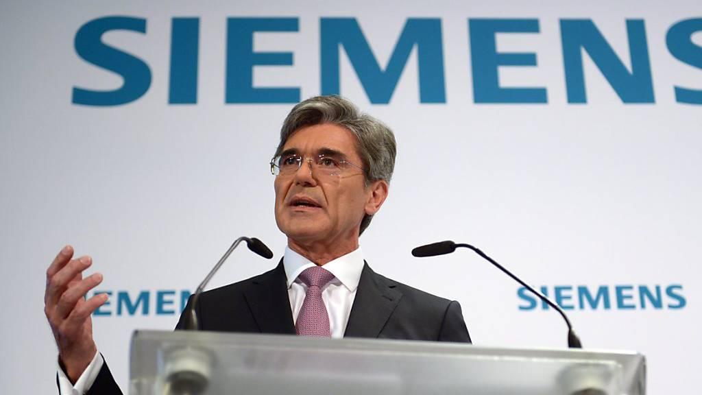 Siemens-Chef Joe Kaeser kann mehr Umsatz verkünden. (Archiv)
