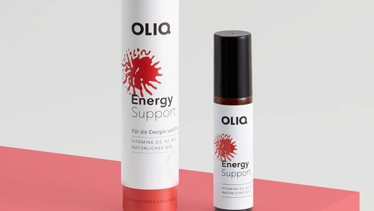 Oliq verkauft fünf verschiedene Vitamin-Sprays.