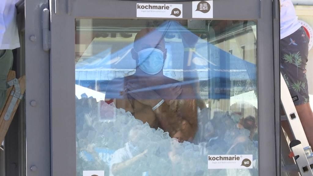 Österreicher friert sich zum Weltrekord