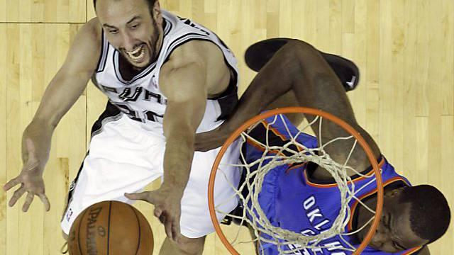 34 Punkte von Ginobili (l.) waren zu wenig für die Spurs.
