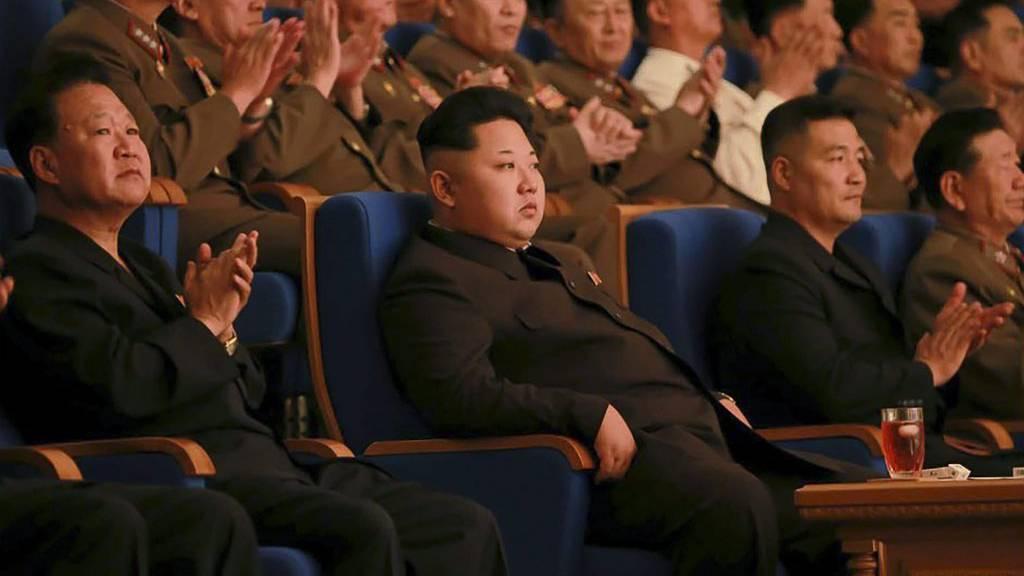 Der eiserne Machthaber Kim Jong Un bei einer Parteiveranstaltung in Pjöngjang im September 2015.