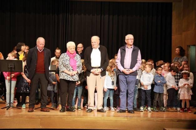 v.l. Anton Krapf, Marthe Jäggi, Josef Scacchi und Wolfgang Lisibach