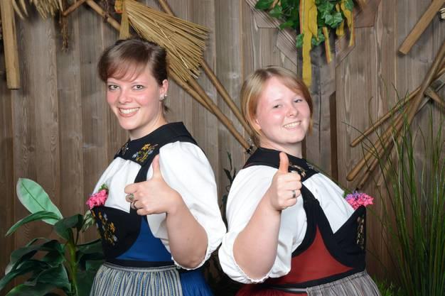 Julia und Luzia Müller aus Reinach jodeln seit drei Jahren im Duett.