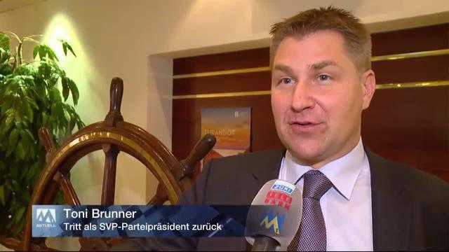 Toni Brunner tritt als SVP-Präsident zurück