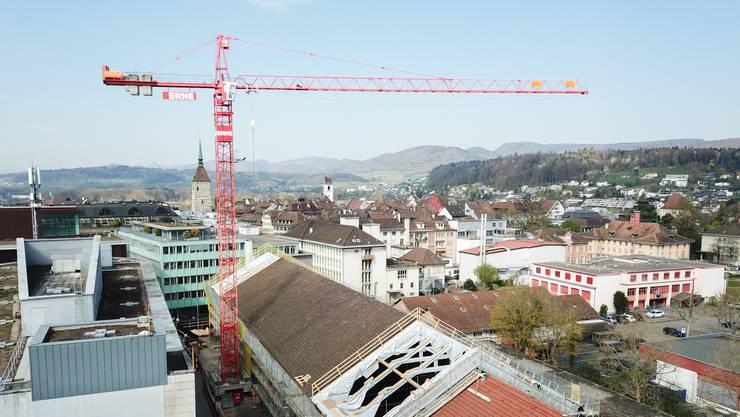 Der Umbau der Alten Reithalle in ein kantonales Kulturhaus ist im vollen Gang.