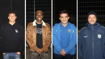 Kevin da Silva Saxer (17), Rachid dos Santos Paulo (20), Nico Perez (18) und Besnik Ramadani (35) vom FC Schlieren