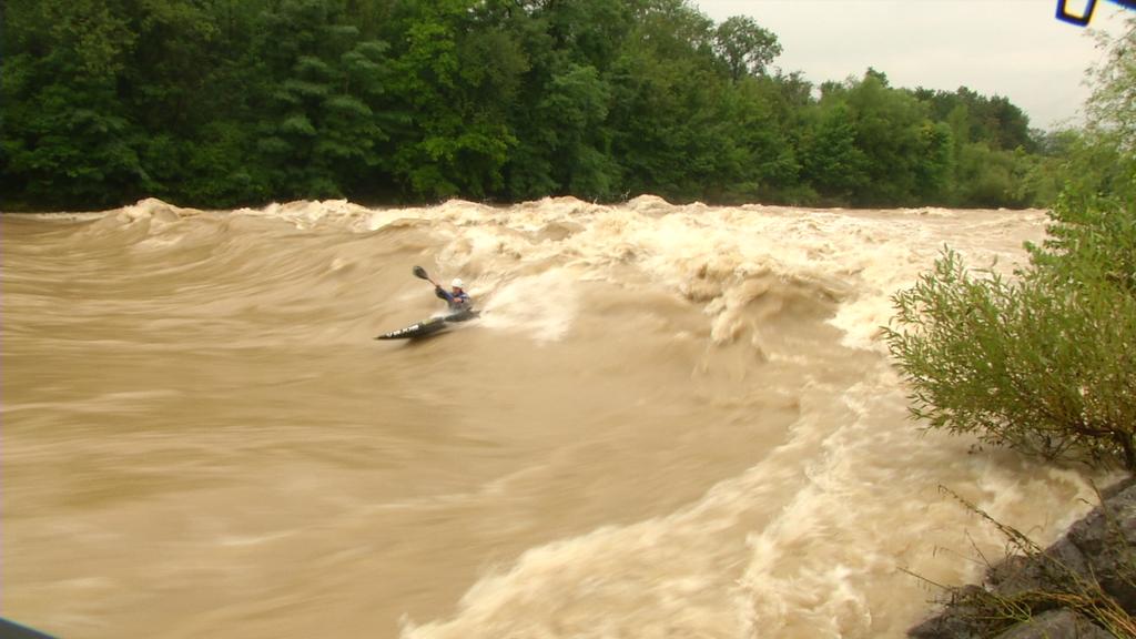 Hochwasser-Kajak