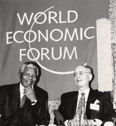 Klaus Schwab und Nelson Mandela 1992