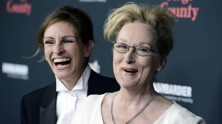 Und natürlich lacht Julia mit Hollywoodgrösse Meryl Streep um die Wette.
