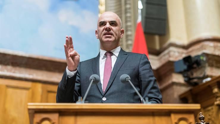 Nein zur Altersreform wird teuer: Bundesrat Alain Berset.