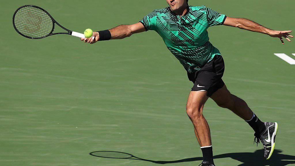 Nach seinem Sieg in Indian Wells wartet auf Roger Federer auch beim ATP-Turnier von Miami ein happiges Programm