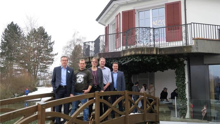 Der neue Gemeinderat (v.l.): Uwe Matthiessen, Michel Strub, Katrin Burgherr, Peter Hochuli und Markus Baumann.