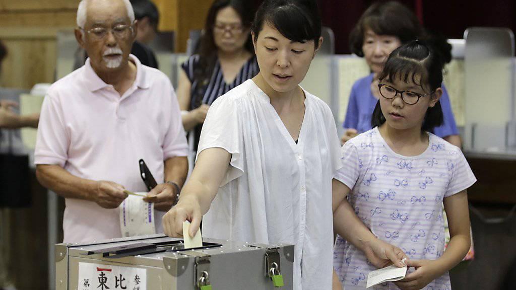 Japans Regierungslager siegt bei Oberhauswahl erwartungsgemäss
