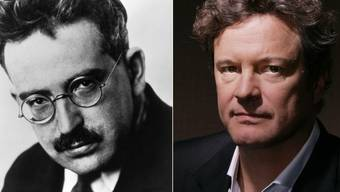 Colin Firth (r) soll den Philosophen Walter Benjamin spielen. (Archivbilder)