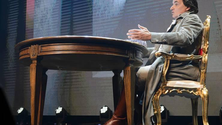 Christian Constantin ist Gastgeber der inoffiziellen Sitzung.
