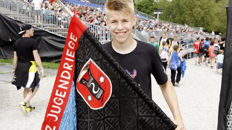 Umfrage am Eidgenössischen Turnfest in Aarau: Julian (14) aus Sulz