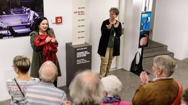 """Spendenbarometer der """"Freunde des Stadttheaters"""" für die Aufführung Romeo und Julia"""