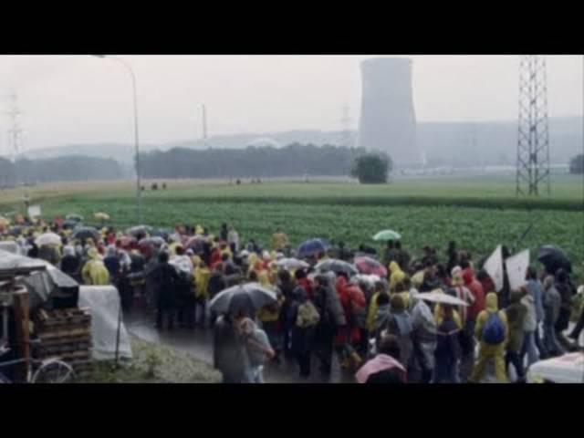 1977 besetzten AKW-Gegner die Zufahrt zum Kraftwerk Gösgen