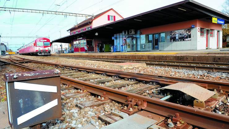Die BLS hat Grosses vor: Der Bahnhof in Utzenstorf wird komplett neu gestaltet. (Bild: Urs Lindt)