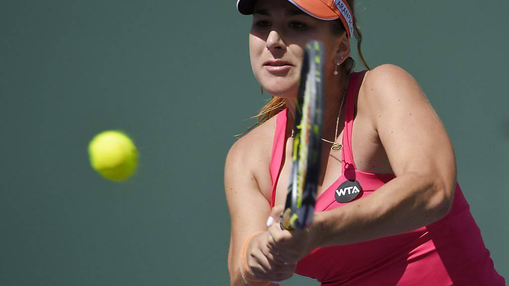 Aktuell nicht viel zu lachen: Belinda Bencic scheiterte auch in Charleston früh