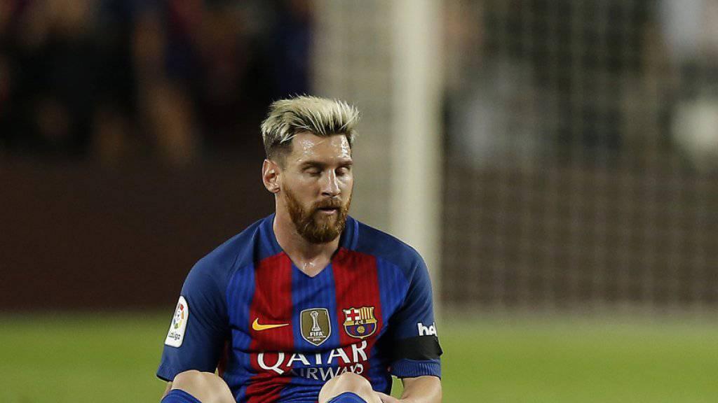 Lionel Messi muss verletzungsbedingt pausieren.