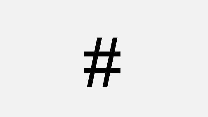 Der Hashtag.