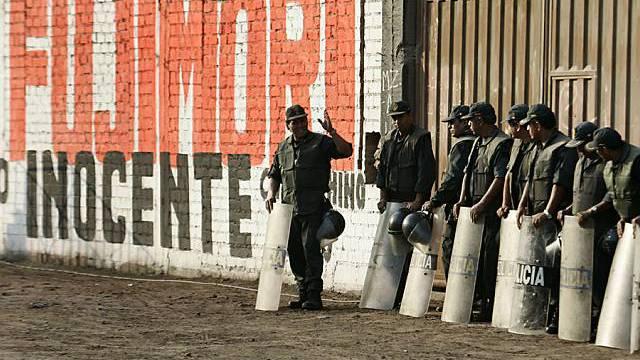 Polizeiaufgebot in Lima