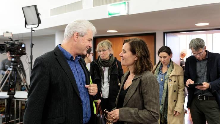Sie sitzen neu für den Kanton Solothurn im Nationalrat: Felix Wettstein (Grüne), der der SP einen Sitz abnimmt, und Franziska Roth (SP), die Parteikollege Philipp Hadorn verdrängte.