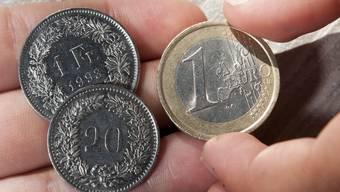 Ein Franken und 20 Rappen für einen Euro? Das ist vorerst vorbei.