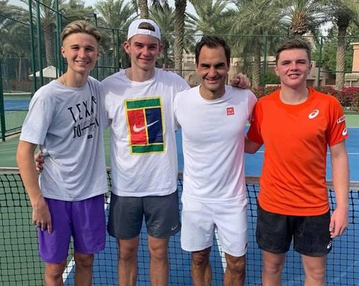 Riedi, Kym und Stricker folgen dem Beispiel von Roger Federer.