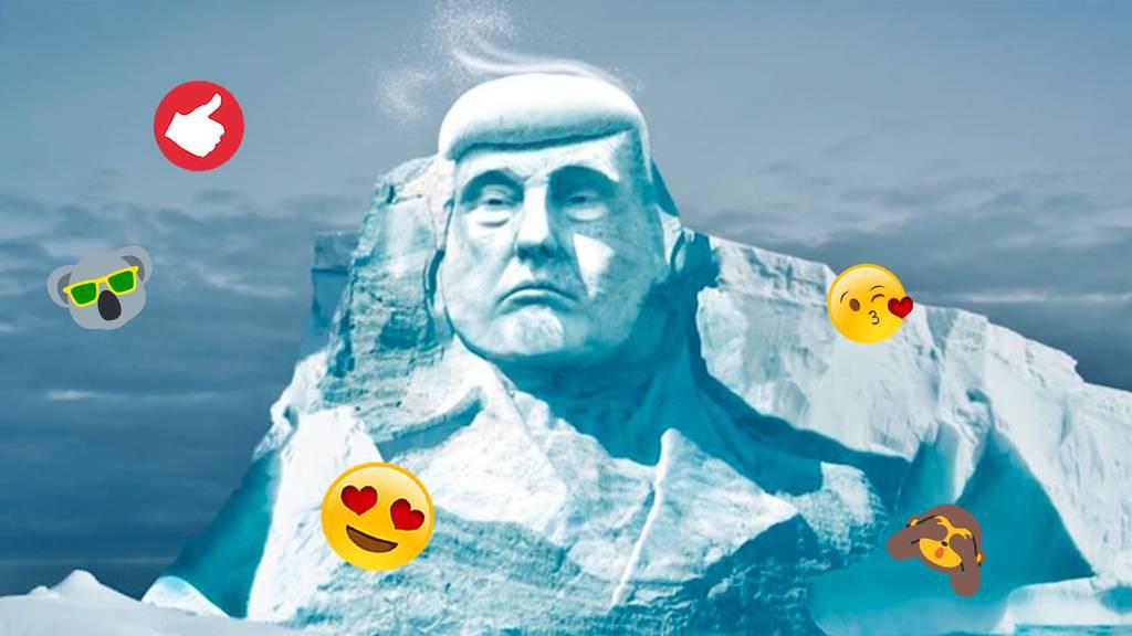 «Ice Ice Donald» – nach diesem Stunt glaubt vielleicht auch Trump an den Klimawandel