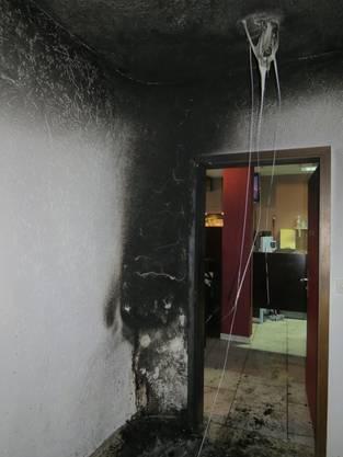 Plötzlich brannte es im Treppenhaus eines Badener Restaurant.