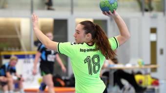 Youngster Céline Jutzi war für die HSG Leimental fünfmal vom Penaltypunkt erfolgreich.
