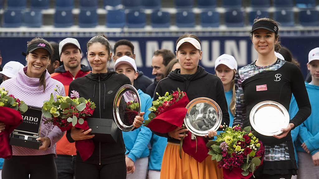 Das Frauenturnier in Lugano ist Geschichte. Im Bild die Siegerehrung nach dem Doppel-Final von 2019
