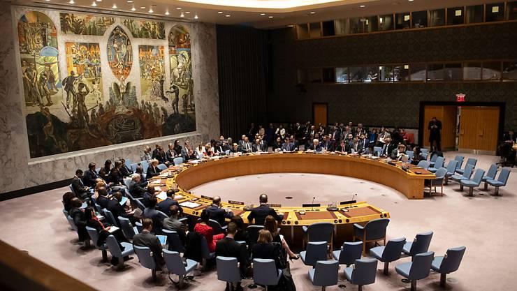 ARCHIV - Blick auf eine Sitzung des Sicherheitsrates der Vereinten Nationen (UN). Deutschland übernimmt am 1. Juli den Vorsitz des UN-Sicherheitsrates. Foto: Ralf Hirschberger/dpa