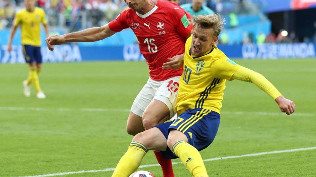 Für Blerim Dzemaili endete wohl seine Karriere in der Nationalmannschaft mit der Niederlage im WM-Achtelfinal 2018 gegen Schweden