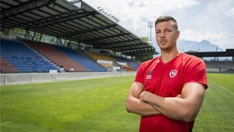 Benjamin Siegrist wartet auch in Vaduz auf den Durchbruch als Goalie. Darf er am Sonntag gegen Basel spielen?