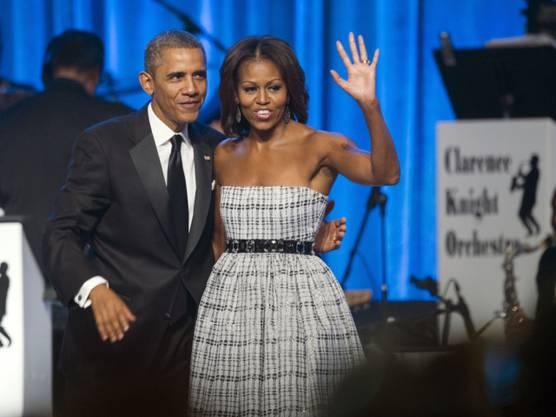 Sie sagt, wo es lang geht: Michelle und Barack Obama (Archiv)