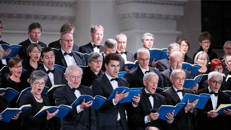 Chormitglieder der Schola Cantorum Wettingensis bei einem ihrer Auftritte. ZVG